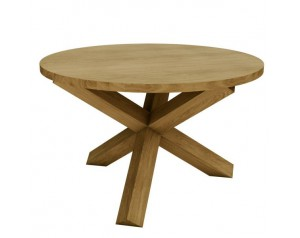 Crossed-leg Table (Oak Top)