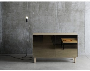 Cubo Cabinet 2 Doors Mirror Finish by Another Brand