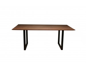 Life Walnut Dining Table with U-shape leg