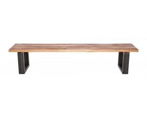 Fargo Oak Bench with U-shape leg 4x10cm