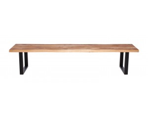 Fargo Oak Bench with U-shape leg 3x6cm