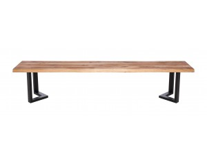 Fargo Oak Bench with M-shape leg 3x6cm