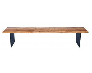 Fargo Oak Bench with Full leg