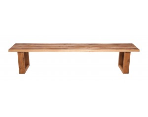 Fargo Oak Bench with U-shape wooden leg 4x10cm
