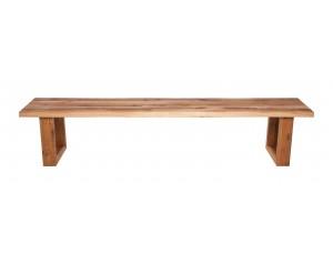 Fargo Oak Bench with U-shape wooden leg 4x10cm