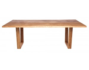 Fargo Oak Dining Table with Trapeze wooden leg 4x10 cm