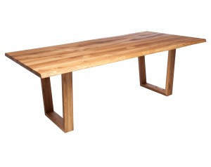 Fargo Oak Dining Table with Trapeze wooden leg 4x10cm