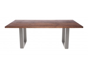 Fargo Walnut Dining Table with Rounded U-shape leg T1xW10 cm