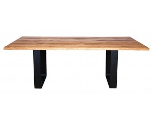 Fargo Oak Dining Table with Rounded U-shape leg W10 cm