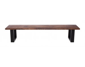 Fargo Walnut Bench with U-shape leg 4x10cm