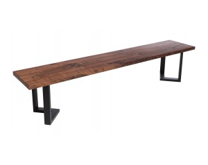 Fargo Walnut Bench with M-shape leg 3x6cm