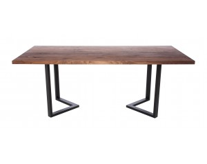 Fargo Walnut Dining Table with M-shape leg 3x6cm