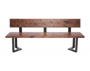 Fargo Walnut Bench with Back with M-shape leg 3x6cm