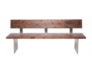 Fargo Walnut Bench with Back with Full leg