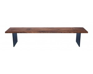 Fargo Walnut Bench with Full leg