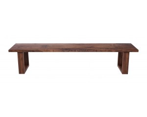 Fargo Walnut Bench with U-shape wooden leg 4x10cm