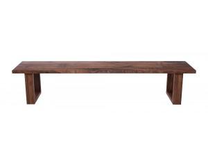 Fargo Walnut Bench with U-shape wooden leg 4x10cm