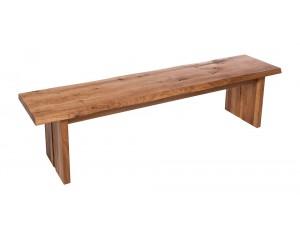 Fargo Oak Bench with Full Wooden leg