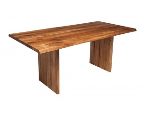 Fargo Oak Dining Table with Full Wooden Leg