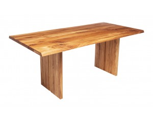 Fargo Oak Dining Table with Full Wooden Leg