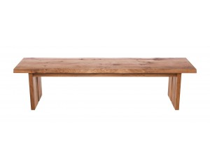 Fargo Oak Bench with Full Wooden leg