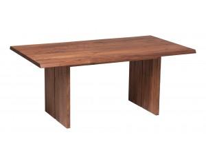 Fargo Walnut Dining Table with Full Wooden Leg