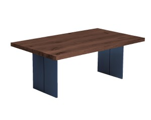 Fargo Walnut Coffee Table with Full Leg