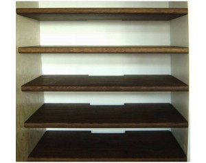 Floating Shelves Stained 2