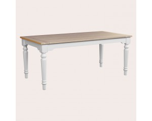 Dorset White Fixed Top Dining Table