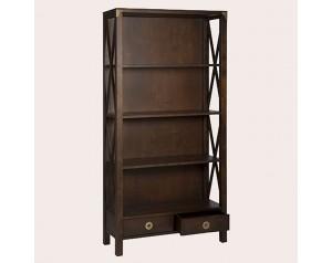 Balmoral Dark Chestnut 2 Drawer Single Bookcase