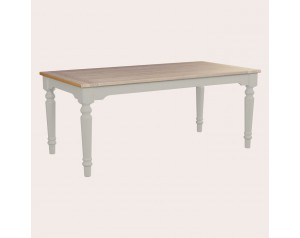 Dorset Pale French Grey Fix Top Dining Table