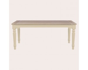 Dorset Soft Truffle Fixed Top Dining Table