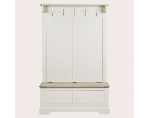 Dorset White Tall Bench With Coat Rack