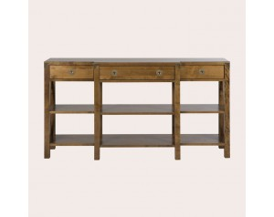 Balmoral Honey 3 Drawer Triple Console Table