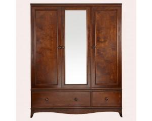 Broughton Dark 3 Door 2 Drawer Wardrobe