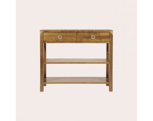 Balmoral Honey 2 Drawer Console Table