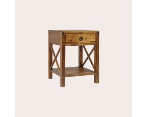 Balmoral Honey 1 Drawer Side Table
