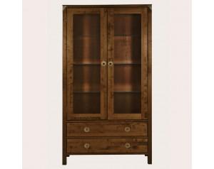 Balmoral Dark Chestnut 2 Door 2 Drawer Display Unit