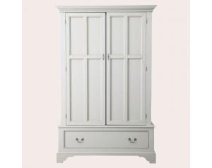 Clifton Dove Grey 2 Door 1 Drawer Wardrobe