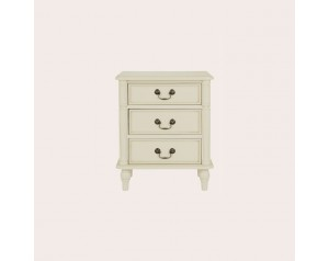 Clifton Ivory 3 Drawer Bedside Chest