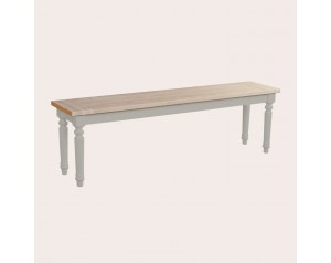 Dorset Pale French Gret Dining Bench