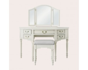 Clifton Dove Grey 5 Drawer Dressing Table & Stool Set