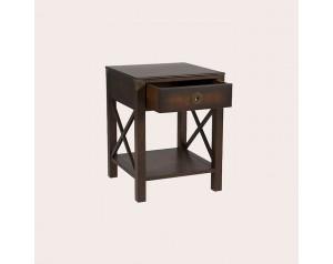 Balmoral Dark Chestnut 1 Drawer Side Table