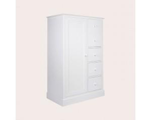 Ashwell Cotton White 2 Door 3 Drawer Wardrobe