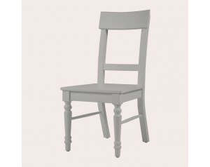 Dorset Pale French Grey Pair Of Dining Chairs