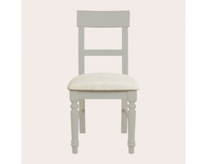 Dorset Pale French Grey Pair Of Upholstered Dining Chairs