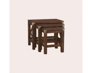 Balmoral Dark Chestnut Nest Of 3 Tables