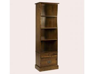 Garrat Dark Chestnut 2 Drawer Single Bookcase
