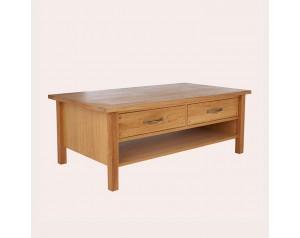 Milton Oak 2 Drawer Coffee Table