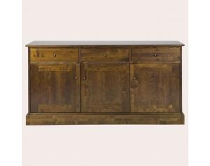 Garrat Dark Chestnut 3 Door 3 Drawer Sideboard